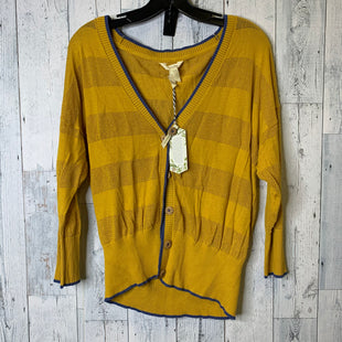 Primary Photo - BRAND: MATILDA JANE STYLE: SWEATER CARDIGAN LIGHTWEIGHT COLOR: MUSTARD SIZE: L SKU: 176-176134-4812