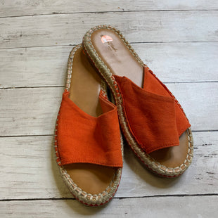 Primary Photo - BRAND: UNIVERSAL THREAD STYLE: SANDALS FLAT COLOR: ORANGE SIZE: 8.5 SKU: 176-176153-221