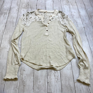 Primary Photo - BRAND: FREE PEOPLE STYLE: TOP LONG SLEEVE COLOR: CREAM SIZE: M SKU: 176-176121-25498