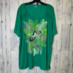 Primary Photo - BRAND: KIM ROGERS STYLE: TOP SHORT SLEEVE COLOR: GREEN SIZE: 3X SKU: 176-176121-26160