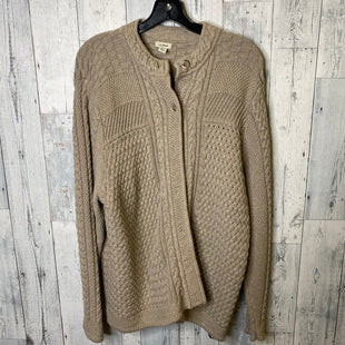 Primary Photo - BRAND: LL BEAN STYLE: SWEATER CARDIGAN HEAVYWEIGHT COLOR: BROWN SIZE: 2X SKU: 176-176124-20231
