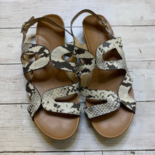 Primary Photo - BRAND: KELLY AND KATIE STYLE: SANDALS FLAT COLOR: SNAKESKIN PRINT SIZE: 9.5 SKU: 176-176121-26012
