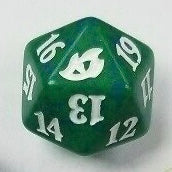 Green Ikoria spin down dice | Lots Moore NSW