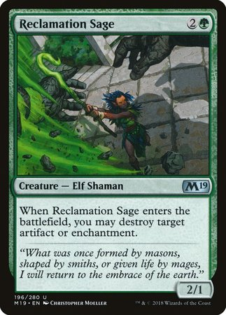 Reclamation Sage [Core Set 2019] | Lots Moore NSW