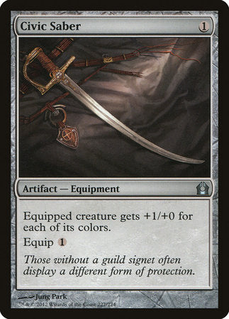 Civic Saber [Return to Ravnica] | Lots Moore NSW