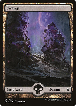 Swamp (263) - Full Art [Battle for Zendikar] | Lots Moore NSW
