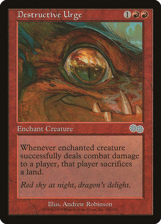 Destructive Urge [Urza's Saga] | Lots Moore NSW