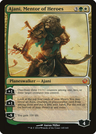 Ajani, Mentor of Heroes [Journey into Nyx] | Lots Moore NSW