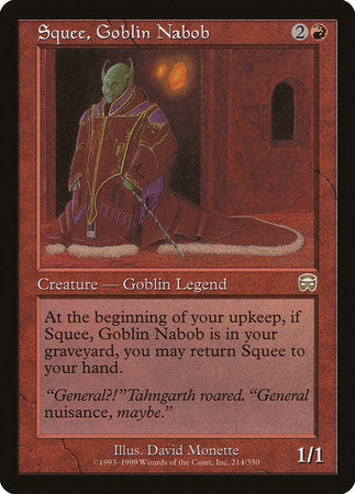 Squee, Goblin Nabob [Mercadian Masques] | Lots Moore NSW