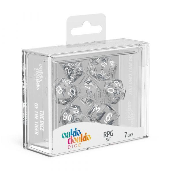 Clear Translucent RPG Dice set | Lots Moore NSW