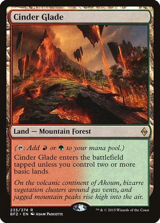Cinder Glade [Battle for Zendikar] | Lots Moore NSW