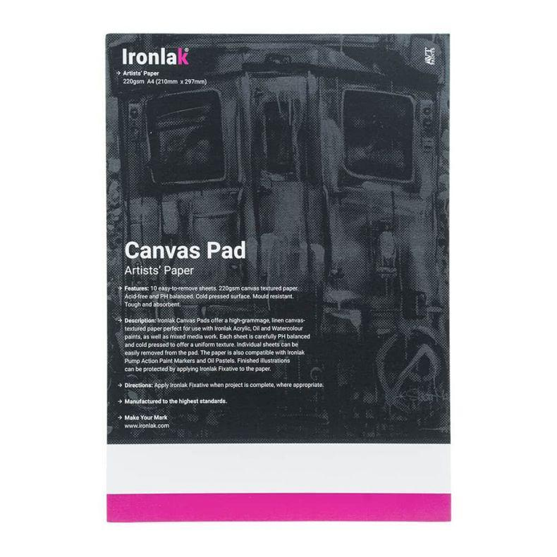 Ironlak A4 Canvas Pad | Lots Moore NSW