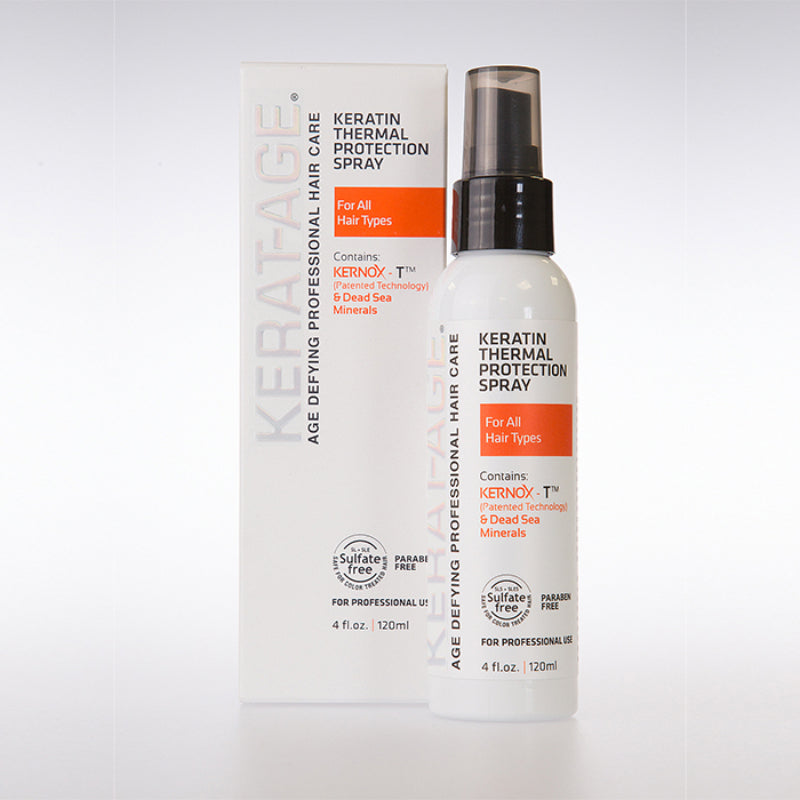 Keratin Thermal Protection Spray -  Prevents Breakage From Heat Damage  I  120 ML