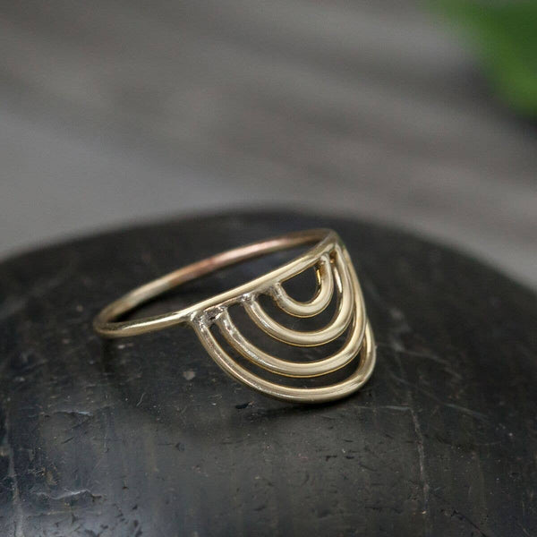 Brass Rainbow Ring
