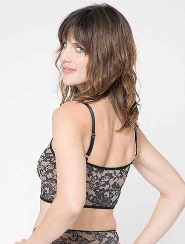 Classic Bralet in Nude Lace