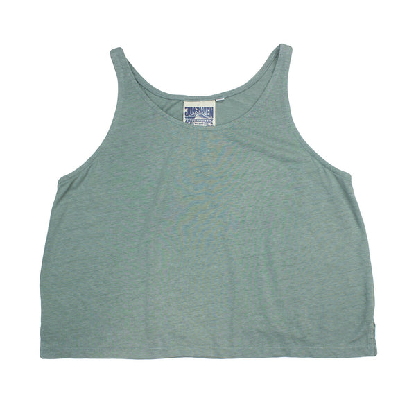 Jungmaven Cropped Tank - Clay Green