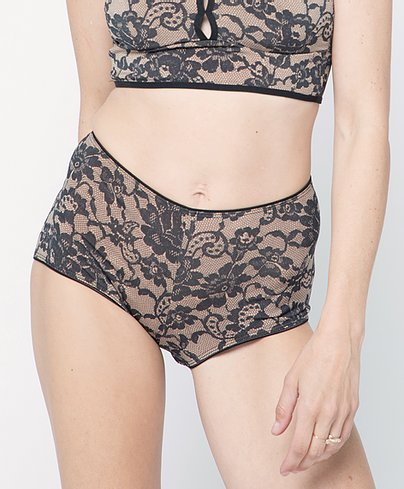 High-brief in Nude Lace