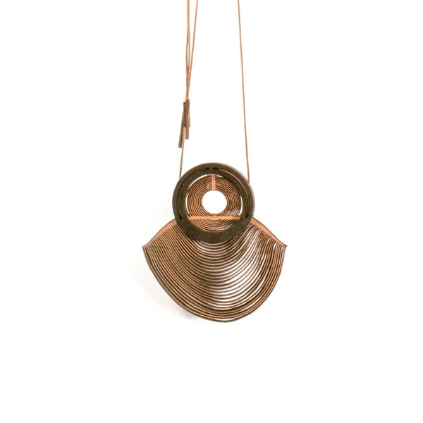 Oropopo Mirage Necklace (natural leather color)