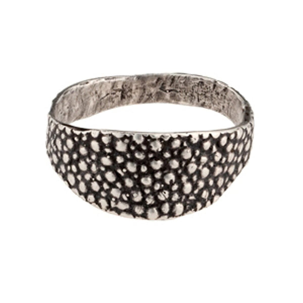 Lauren Wolf Silver Stingray Signet Ring
