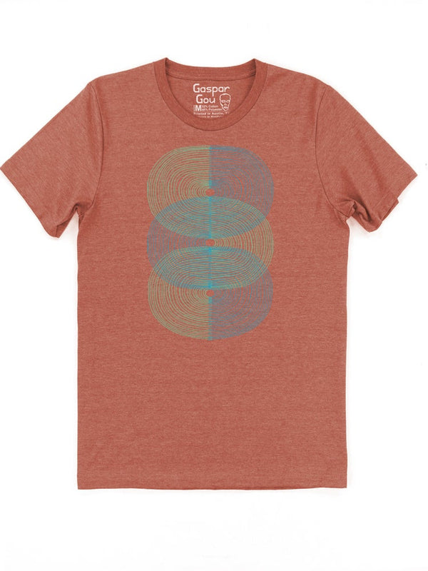 Double S-Curve Charlie Tee - Rust