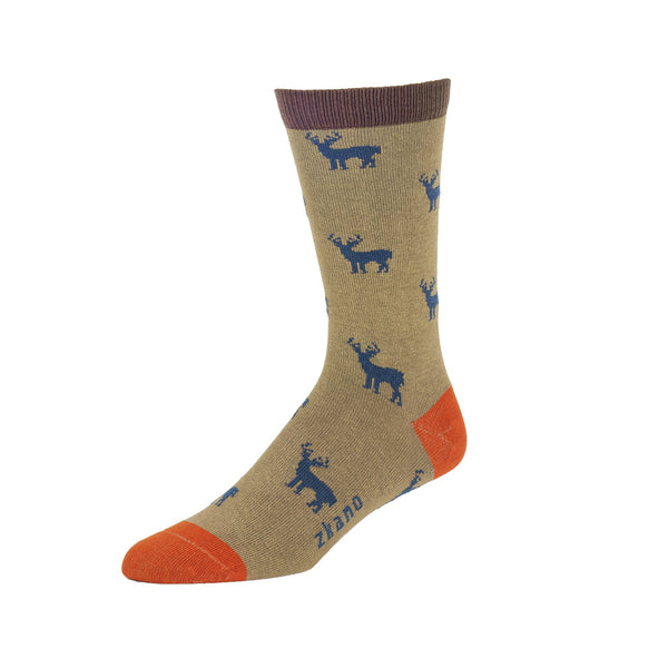Men's Bucks Whitetail Crew in Mushroom (Organic Cotton)
