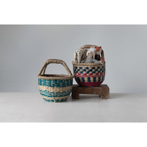Handwoven Mini Market Basket
