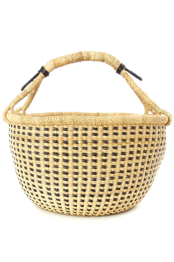 Midnight and Natural Checkered Bolga Basket
