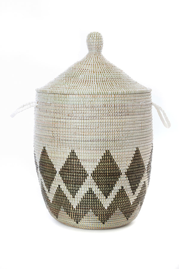 Medium Gem Border Lidded Basket