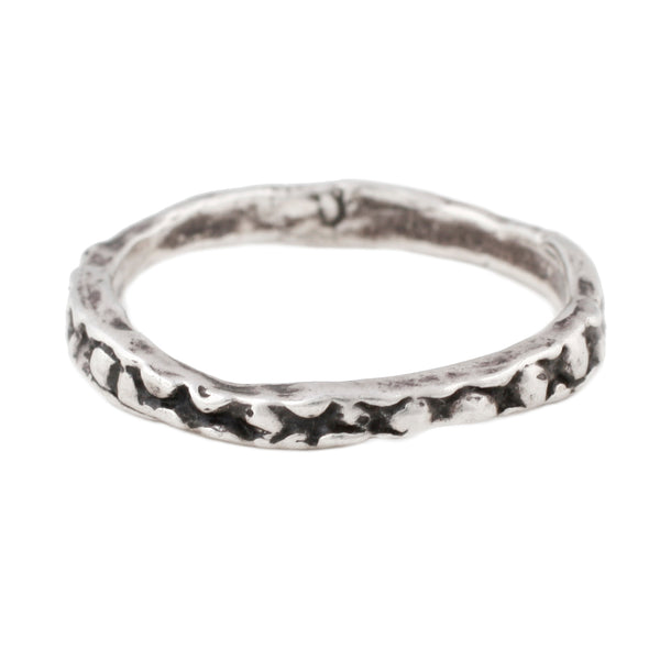 Lauren Wolf Silver Stingray Stacking Ring