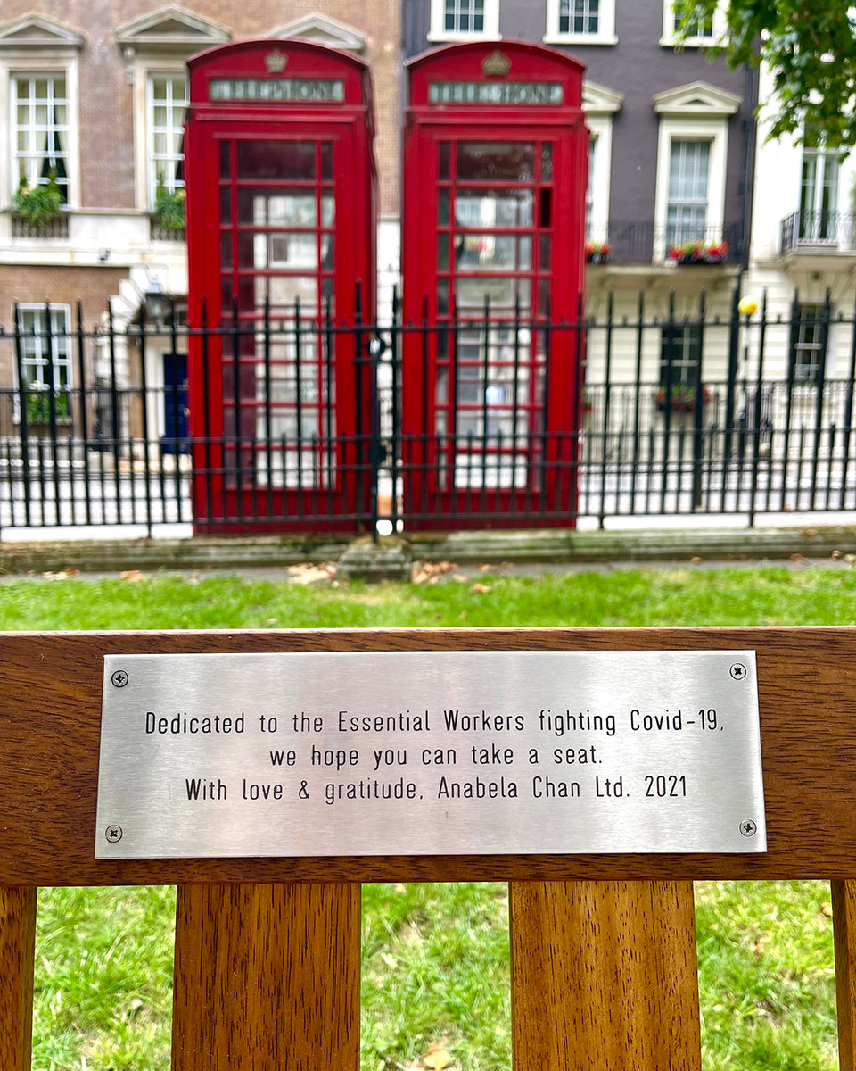 Anabela Chan Joaillerie collectively-endowed bench at Berkeley Square