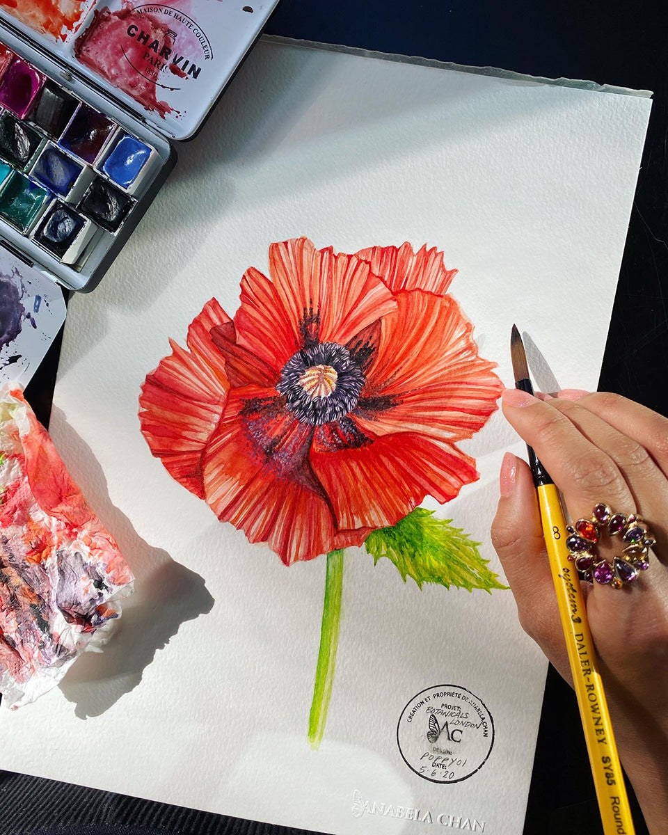 Anabela Chna Joaillerie - Flower Therapy - Poppy Vermillion