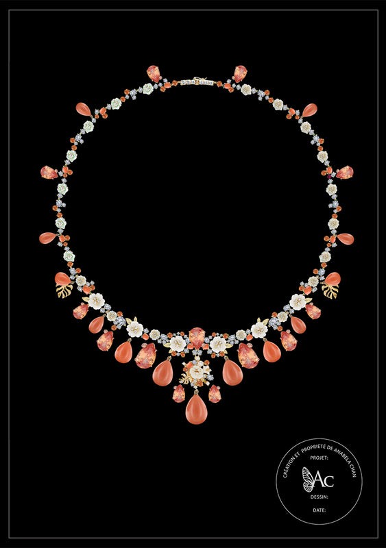 <center>Bespoke Coral Paradise Necklace</center>