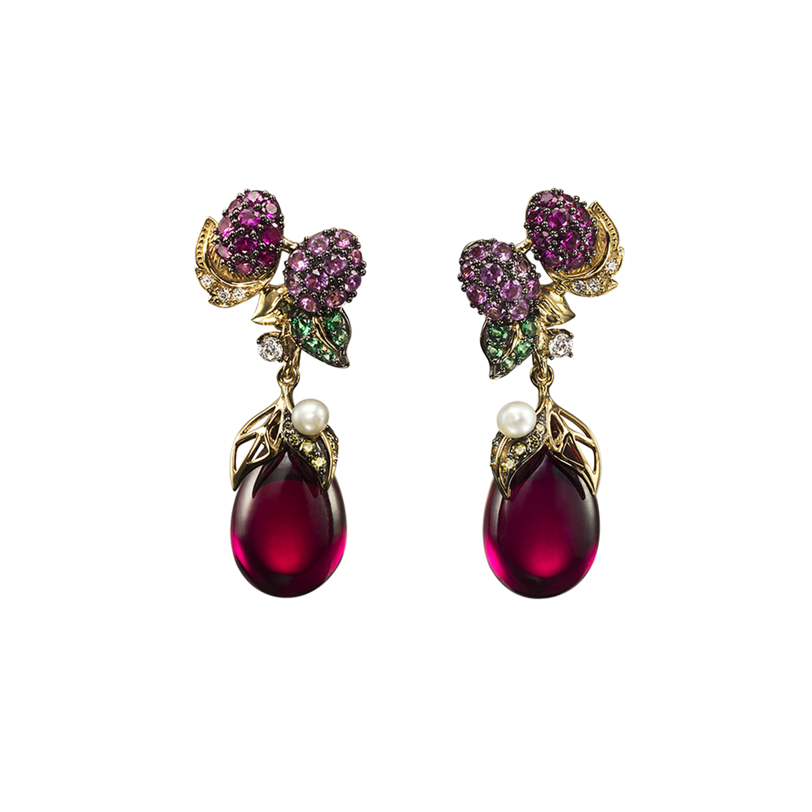 BERRY DROP EARRINGS