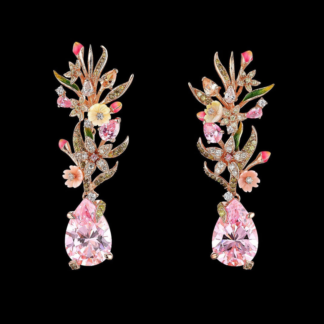 Pink Posie Earrings