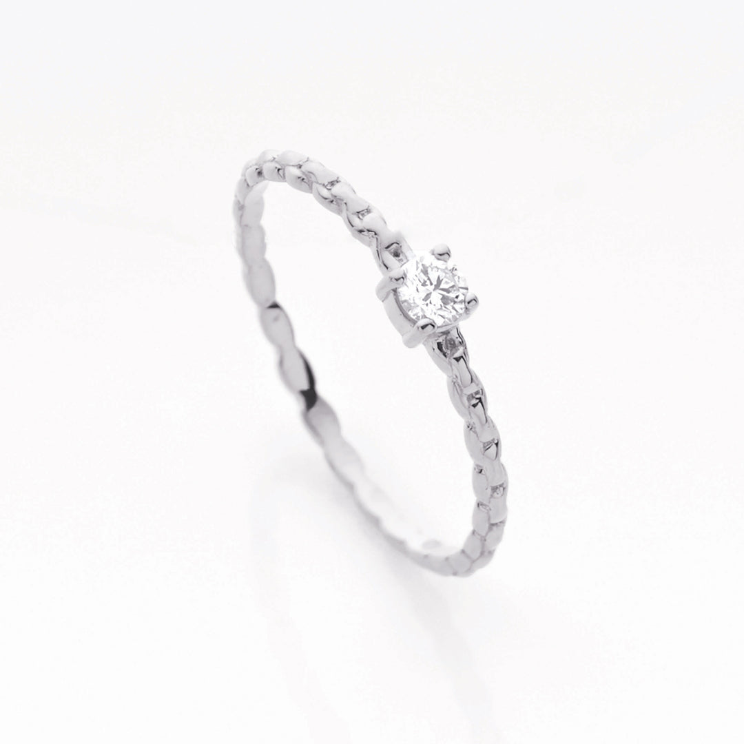 Chain Ring . White Gold