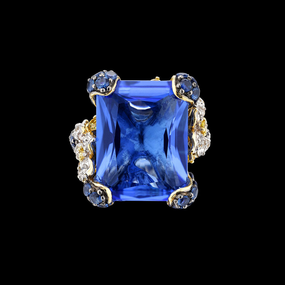 Blue Cinderella Ring