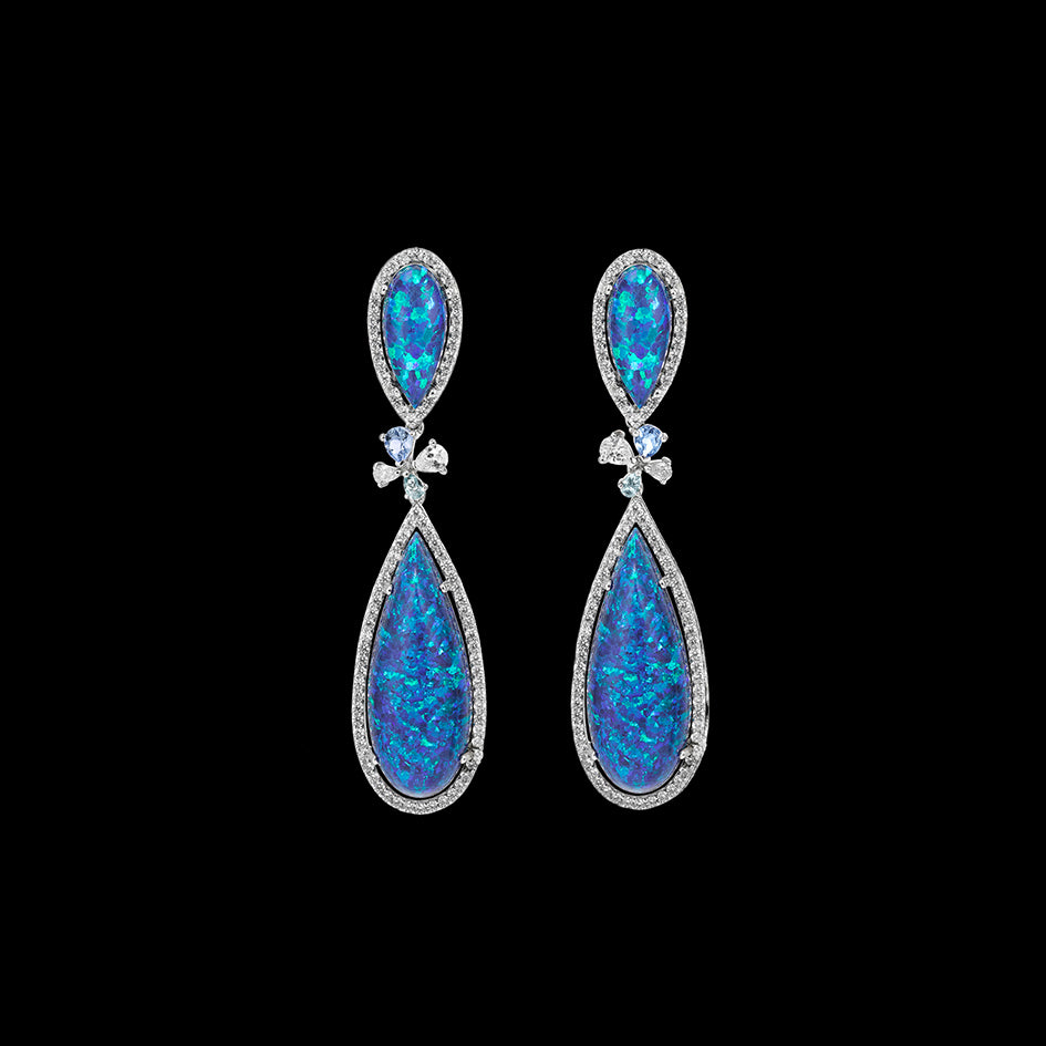 Mini Opal Papillon Earrings