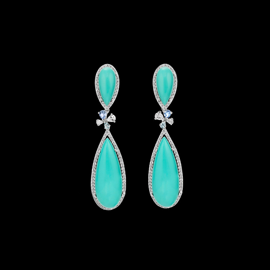 Mini Turquoise Papillon Earrings