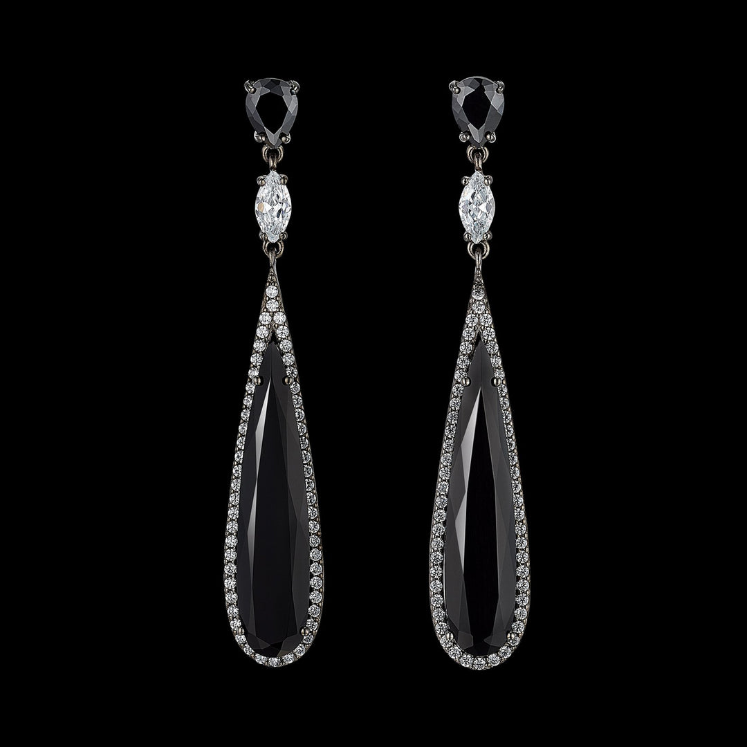 Black Diamond Shard Earrings