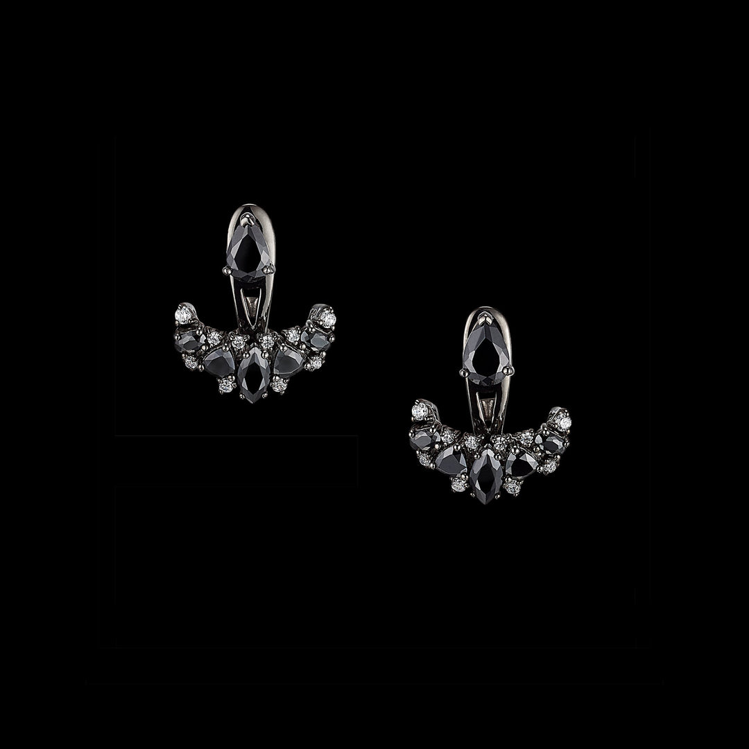 Black Diamond Twinkle Ear-Jackets