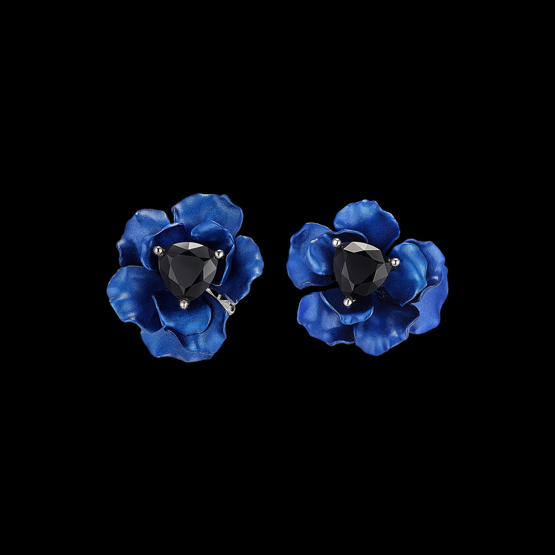 Midnight Rose Studs