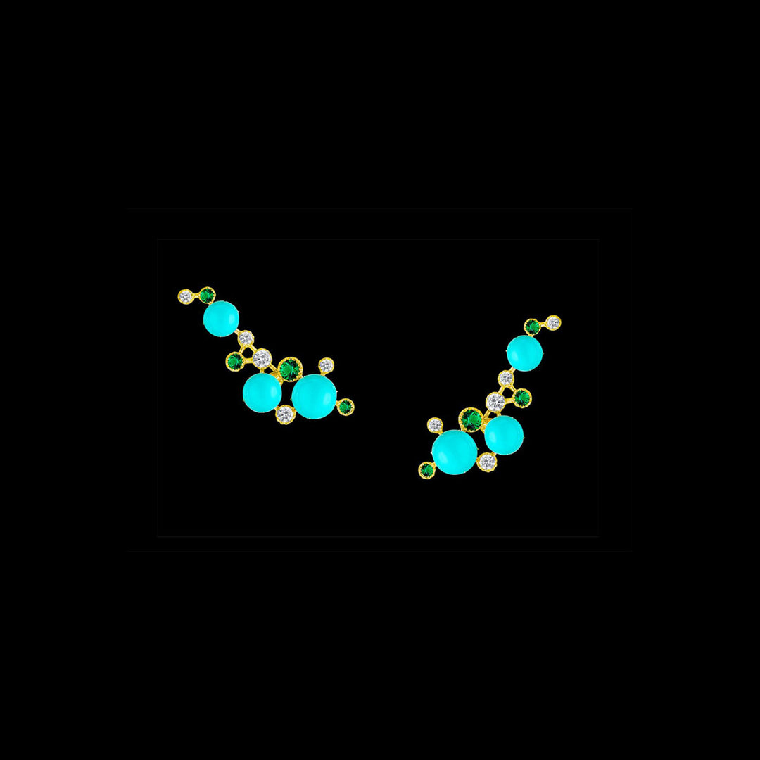Mini Turquoise Constellation Earrings