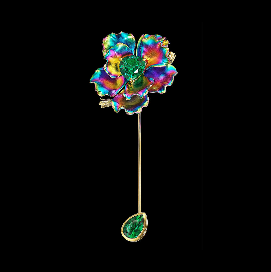 Rainbow Parrot Bloom Pin