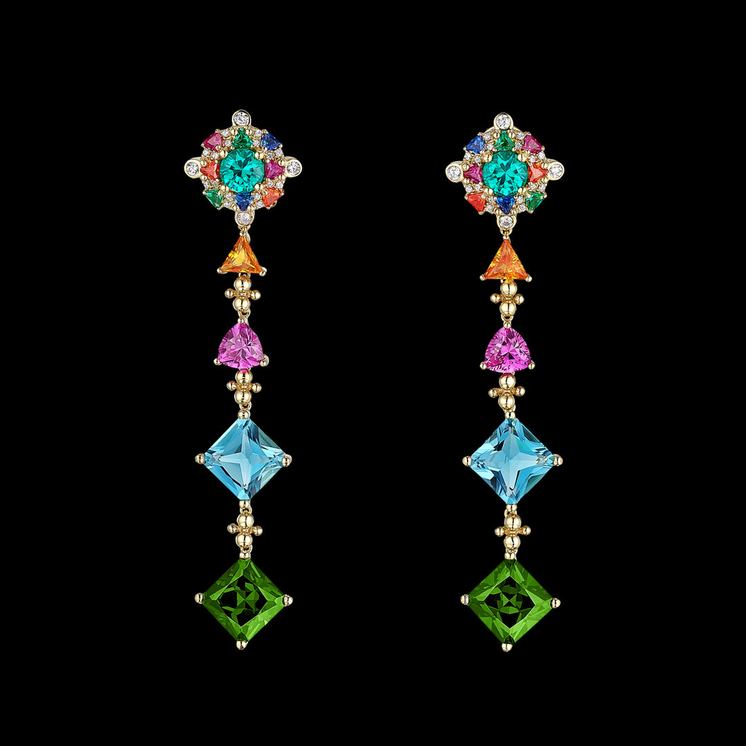 Tropical Paradise Drop Earrings