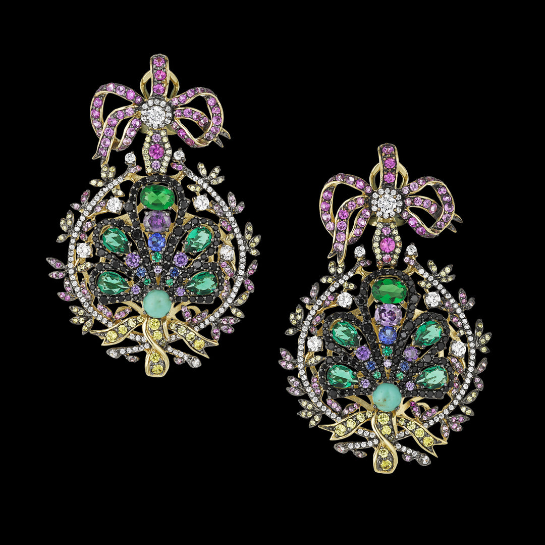 Mirage Peacock Earrings