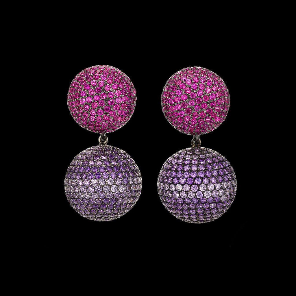 Ruby Violet Bauble Earrings