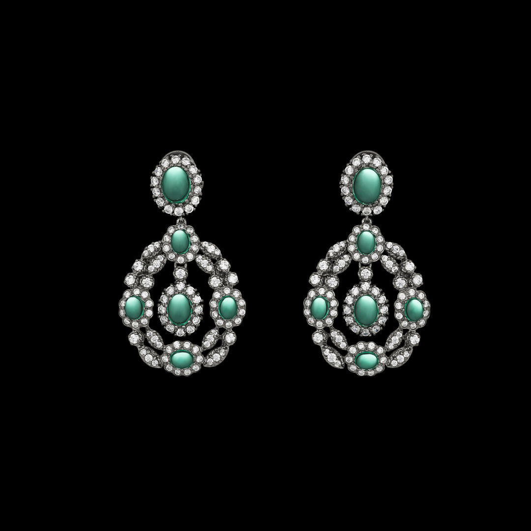 Black Treasure Emerald Earrings