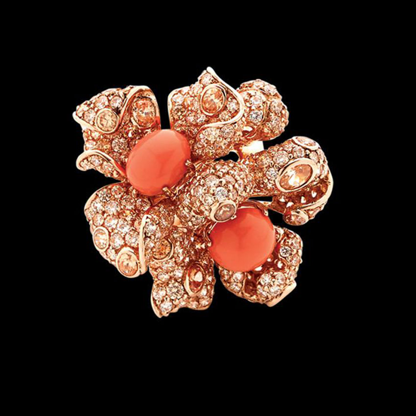 Blossom Coral Ring