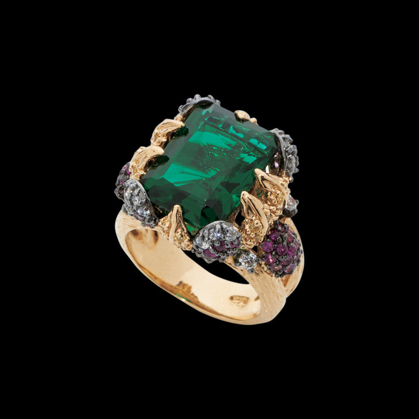 Emerald Ivy Ring