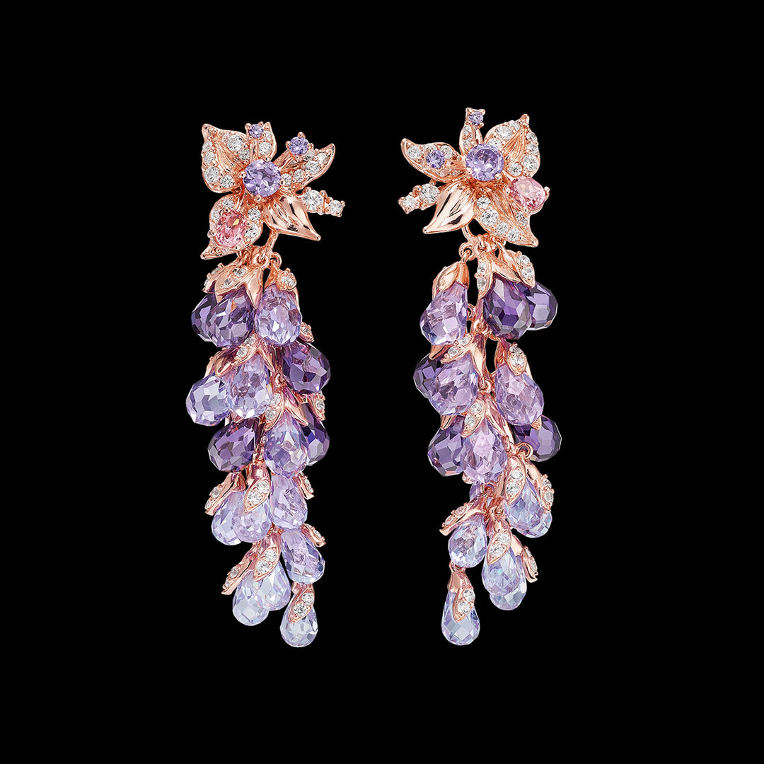 Amethyst Coralbell Earrings